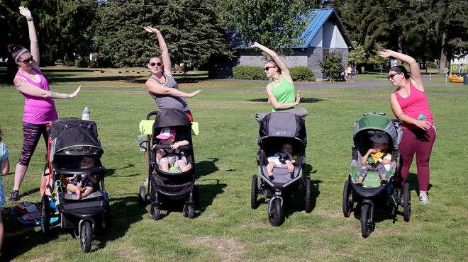 Fit4Mom Kitsap holds Stroller Strides classes and classes for expectant moms at various locations in Kitsap County. One of the locations is Evergreen-Rotary Park in Bremerton. The group moves inside during the winter.
