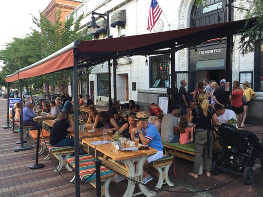Ri Ra The Irish Pub on the Church Street Marketplace has stationed picnic tables outside the restaurant.