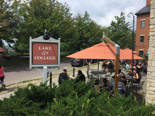 The Skinny Pancake offers a great people-watching perch at Lake and College streets.