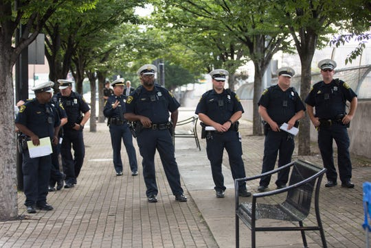 Cincinnati police officers were on hand early Tuesday morning to enforce the deadline for anyone living in tents along Third Street in downtown Cincinnati. The city is no longer allowing homeless to camp on the street, by order of Judge Robert Ruehlman. The request came from Hamilton County Prosecutor Joe Deters, who has filed a lawsuit against the city of Cincinnati.
