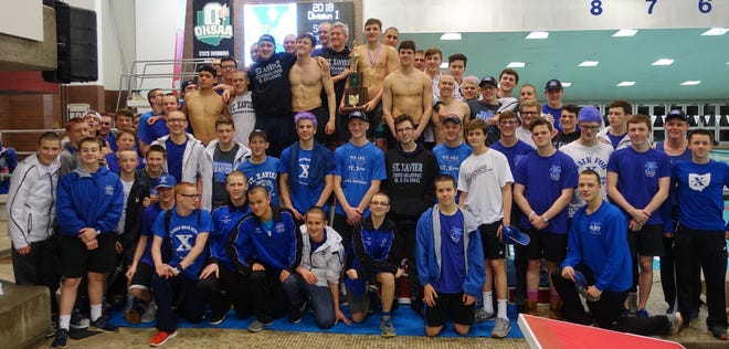 For the fourth consecutive year the St. Xavier Swimming and Diving team finished on top of the National Interscholastic Swimming Coaches Association National dual meet rankings.