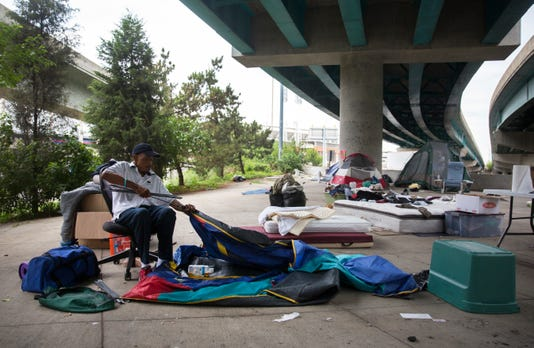 Homeless Encampment Told To Leave Third Street