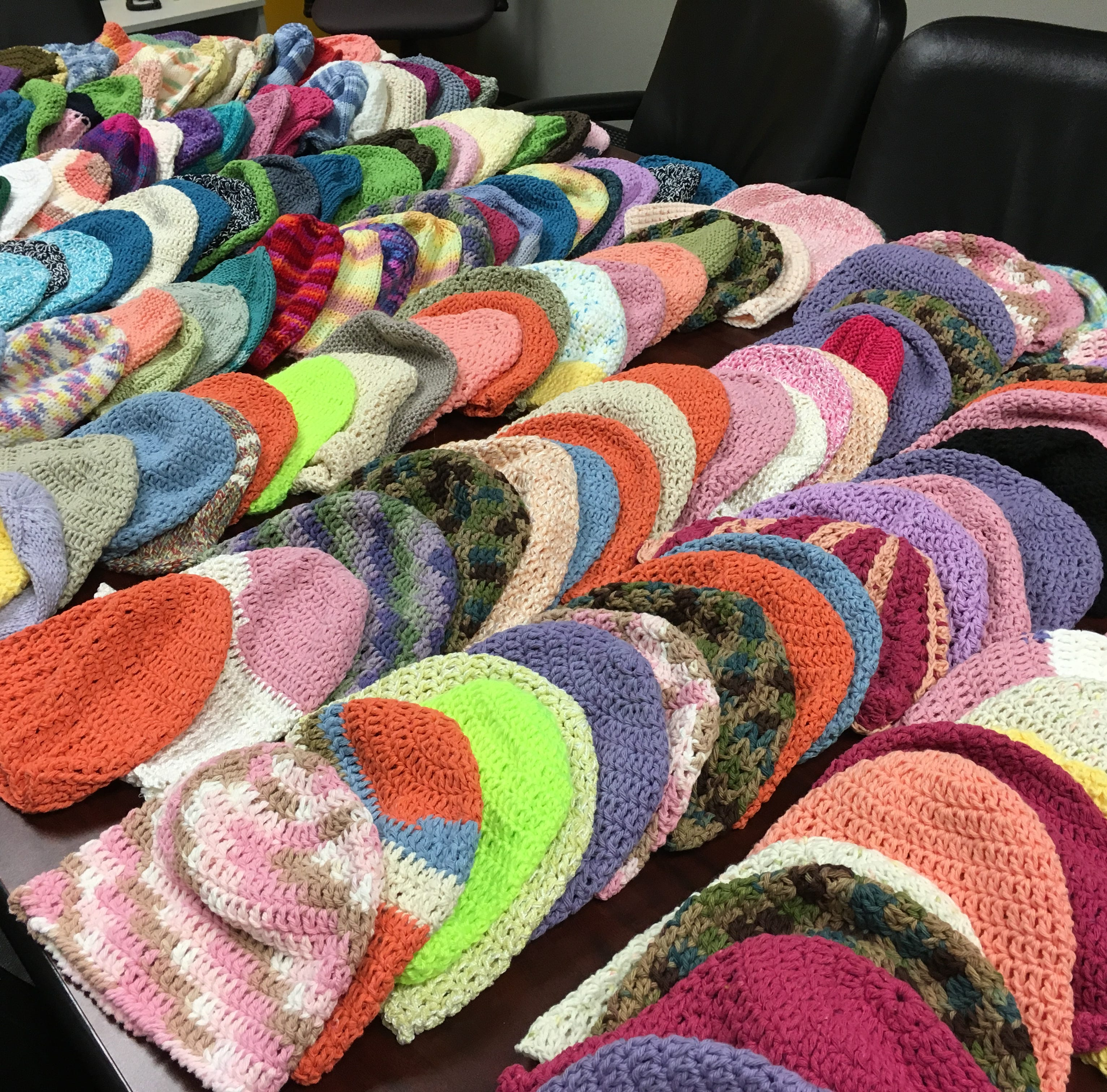 Delivering 300 hats in one day to health and service organizations in Central Jersey