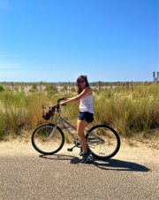 Jenna Intersimone biking in Cape May.