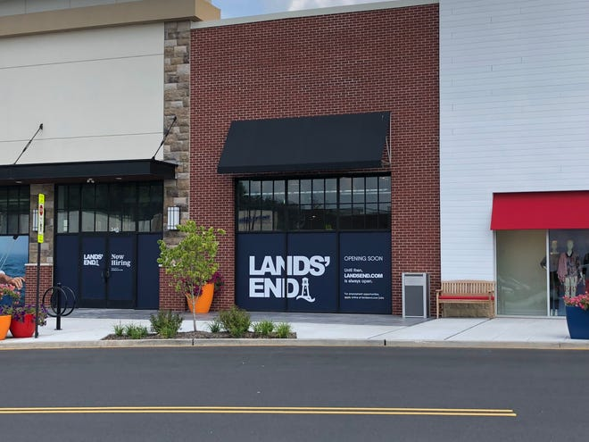 Apparel, accessories and home goods retailer Lands' End is expected to open by month's end at Chimney Rock Crossing in Bridgewater.