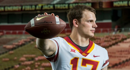 Quarterback Kyle Kempt was named one of four quarterbacks for Iowa State in 2018.