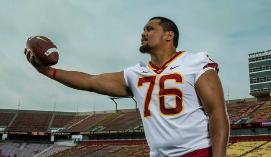 Defensive lineman Ray Lima was named one of four captains for Iowa State in 2018.
