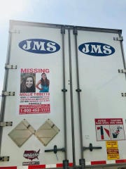 """JMS Trucking Inc. and other local trucking companies hope """"moving billboards"""" showing Mollie Tibbetts' information can help solve the case of her disappearance from Brooklyn, Iowa more than two weeks ago."""