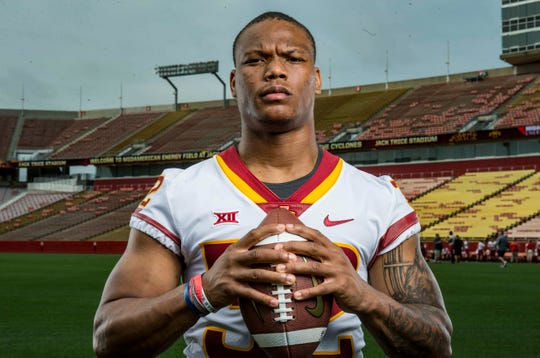 Running back David Montgomery was named one of four captains for Iowa State in 2018.