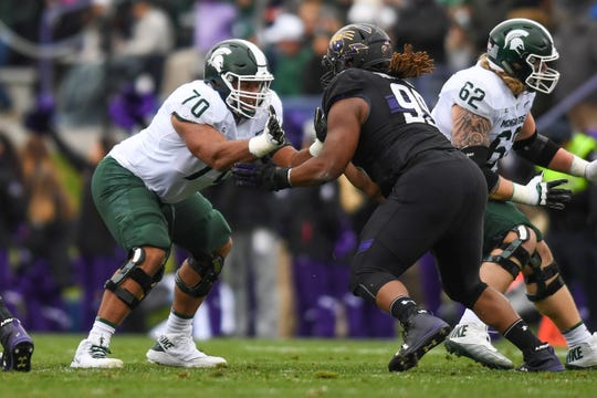 Michigan State's Tyler Higby.