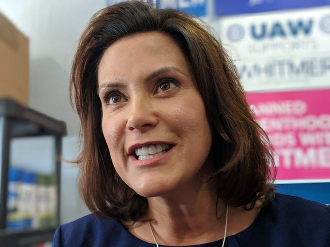 Gretchen Whitmer at her campaign office in Lansing on Tuesday, Aug. 2, 2018.