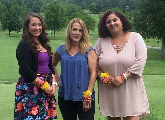 Local college students, from left,  Jennifer Barrett,  Jade Young and Sirrenity Crowley are winners of scholarships presented by the American Association of University Women. Not pictured is winner Sarah Jean Leigh.