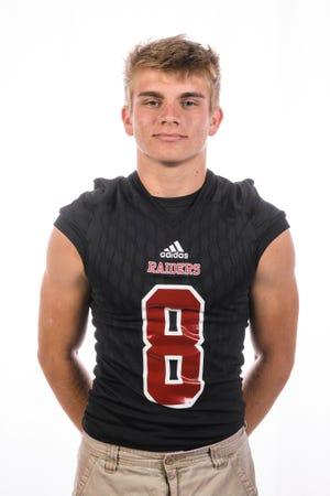 Southridge High School football player Tucker Schank (8)