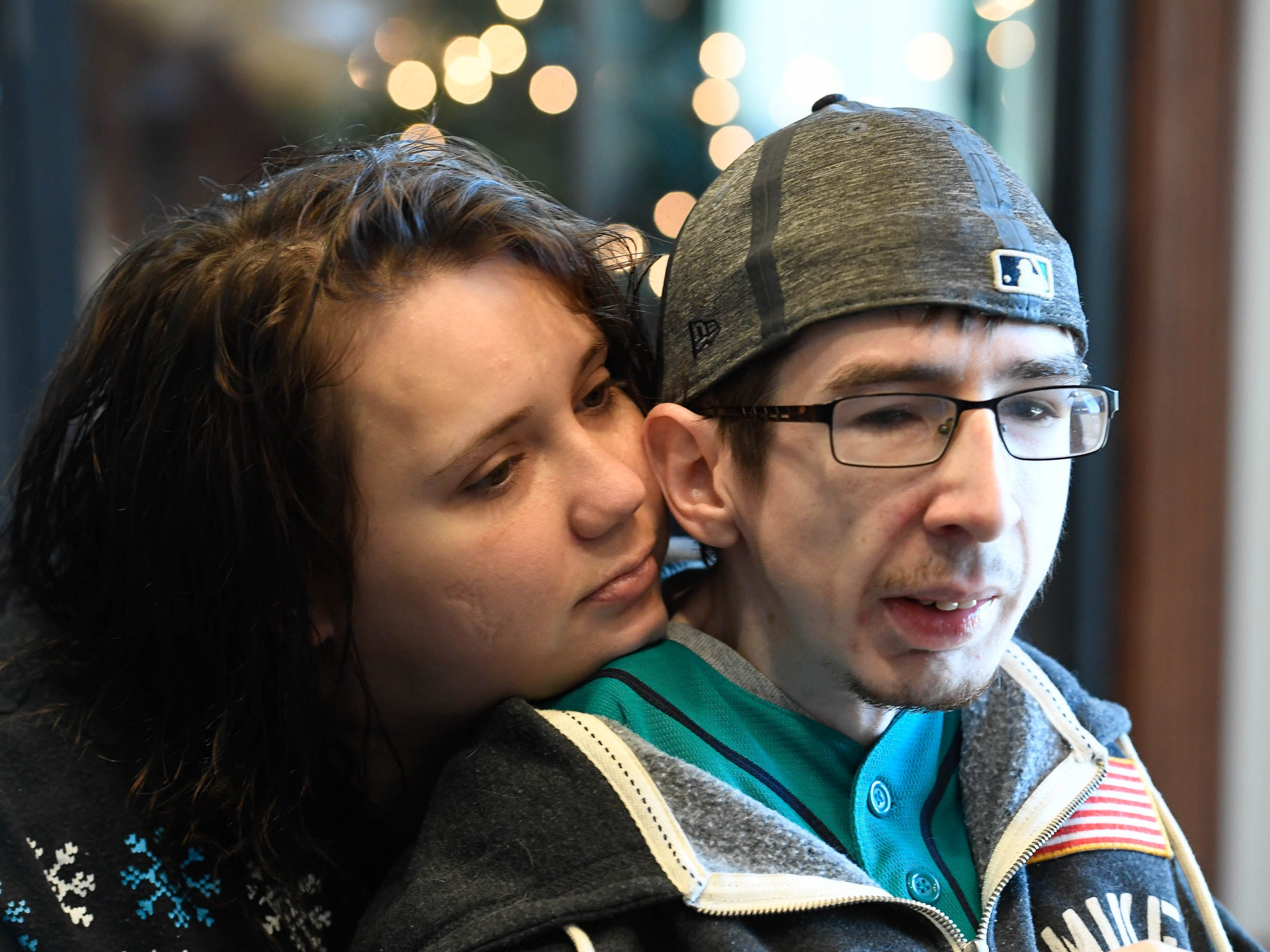 Kendra Creek and Wade Conway are moments away from signing papers to close the deal on their first apartment together in December of last year. Wade, born with arthrogryposis multiplex congenita, and Kendra, whose bacterial meningitis left her a quadruple amputee, moved in together shortly afterwards and are now engaged to be married.