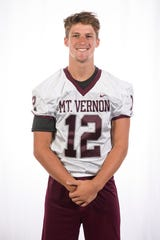 Mount Vernon High School football player Sam Thomas (12)