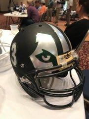 North High School's new football helmet