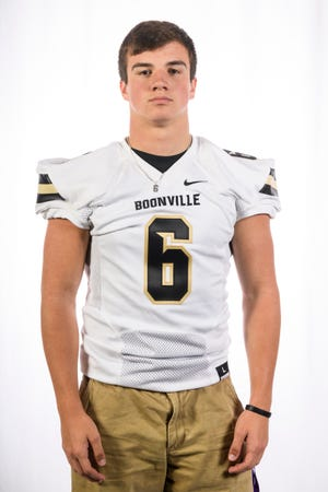 Boonville High School football player Luke Conner (6)
