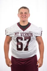 Mount Vernon High School football player DJ Brakie (67)