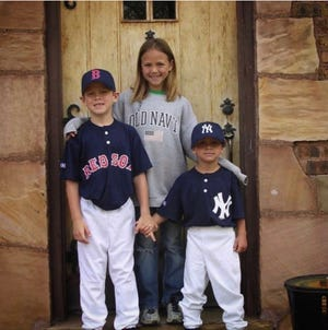 C.J. Alexander, left, and Blaze Alexander pose for a photo as young boys with older sister Sloane. The 2018 Major League Baseball draftees are rookies in the Atlanta Braves and Arizona Diamondbacks organizations, respectively.