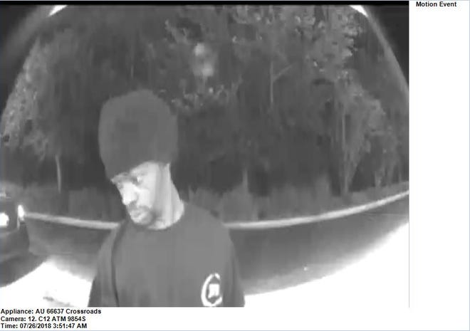 Cameras on an ATM captured images of a suspect in the theft of credit cards, cash and identification from a Lehigh Acres resident's car.Crime Stoppers is hoping someone will be able to place a name with the photos.