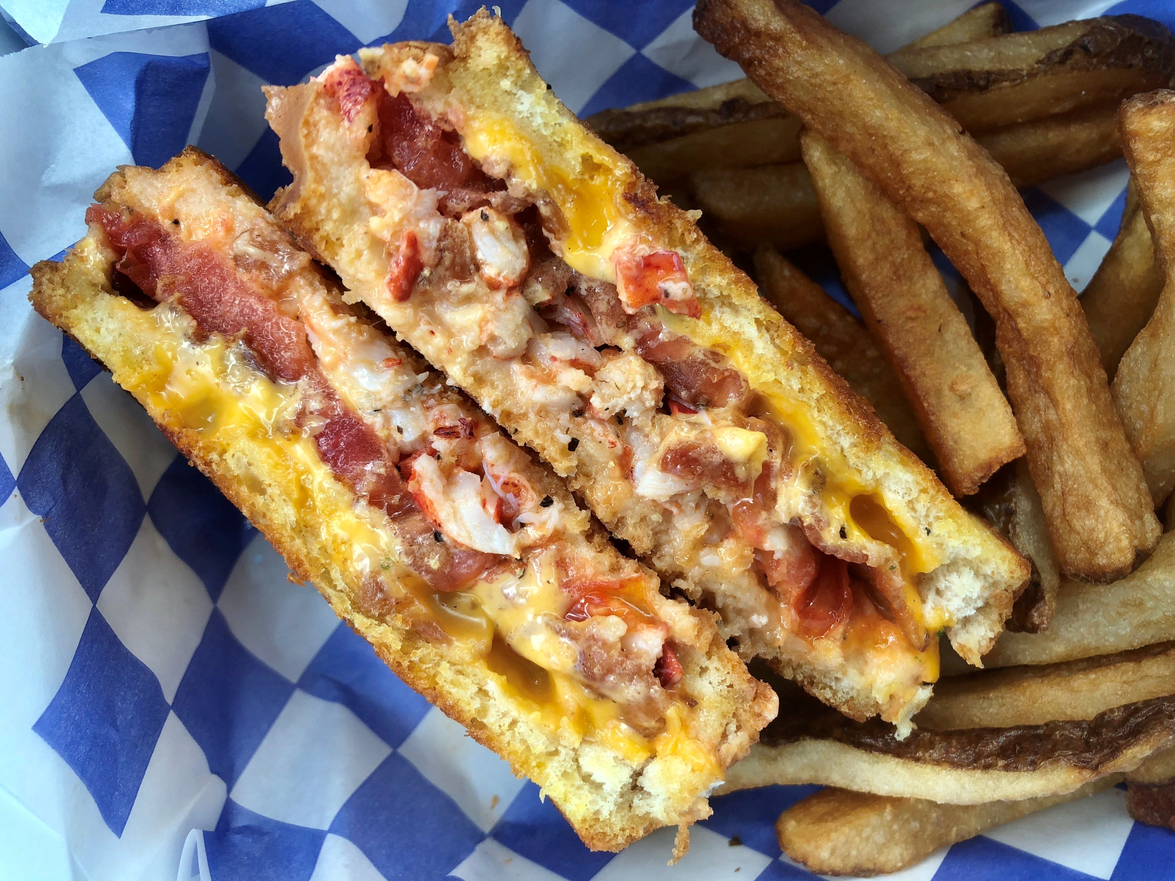 The Lobstah Grilled Cheese from Cape Cod Fish Co.