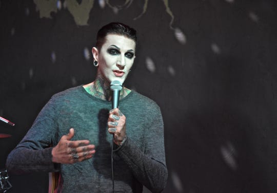 Motionless in White singer Chris Motionless appeared Monday at HOWL for a Q&A session with fans and 96K-Rock radio personality Jeff Zito.