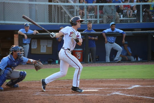 Bishop Verot graduate C.J. Alexander led all players in the Atlanta Braves organization in July in average (.391), on-base (.468) and slugging (.565).