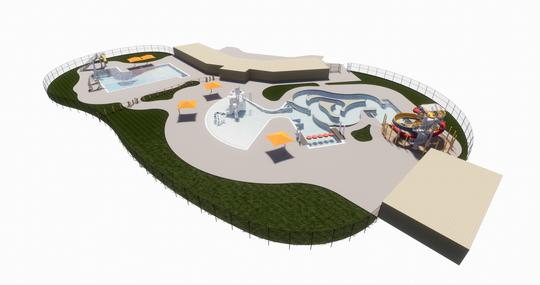 A rendering of De Pere's proposed aquatic center
