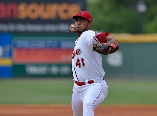 Denyi Reyes was 10-3 with a 1.89 ERA with Greenville before earning a promotion.