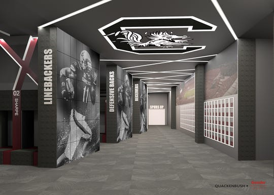 Renderings of South Carolina's Cyndi and Kenneth Long Football Operations Center