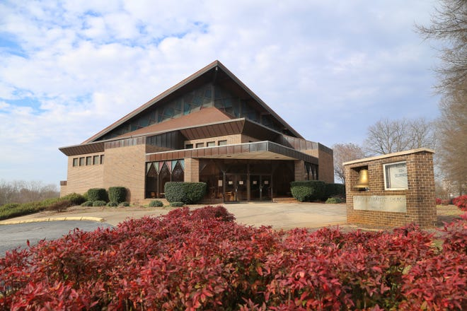 Springfield Baptist Church in downtown Greenville.