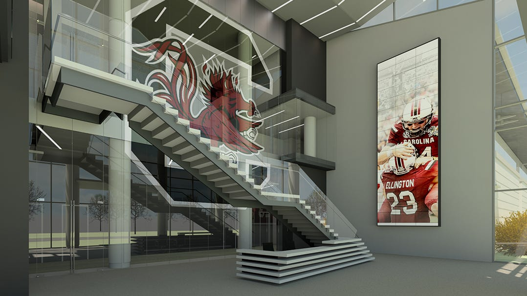 Gamecocks' new $50M football operations center and the latest trend in college athletics extravagance