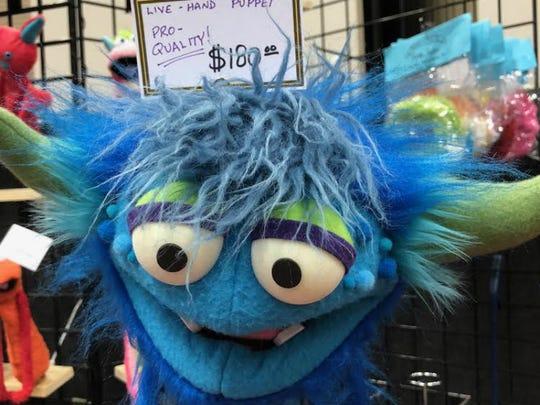 Sesame Street-grade puppet.