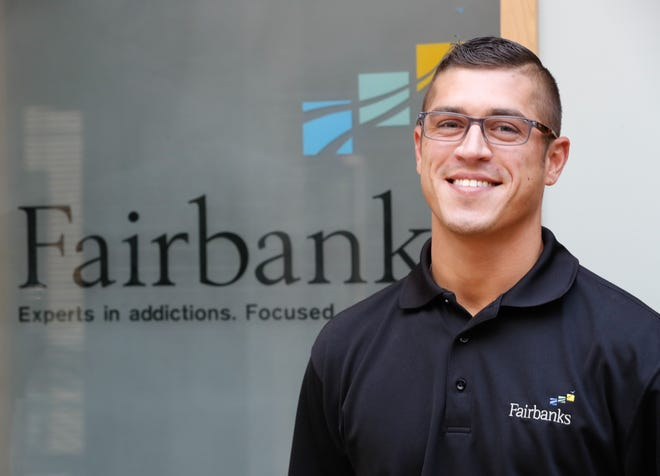 Matt Heskett, Employer Services Coordinator for Fairbanks Alcohol and Drug Addiction Treatment Center has overcome his own addiction to now help others in recovery, Thursday Aug. 2, 2018.