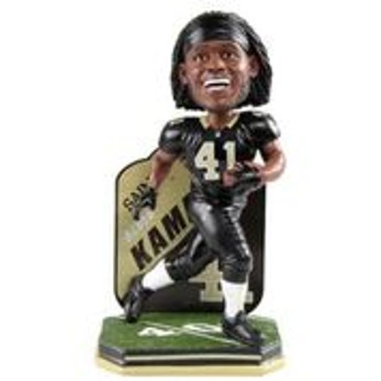 Alvin Kamara bobblehead in New Orleans Saints uniform
