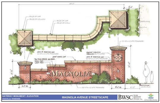 This monument sign is planned for the corner of Magnolia Avenue and Jessamine Street.