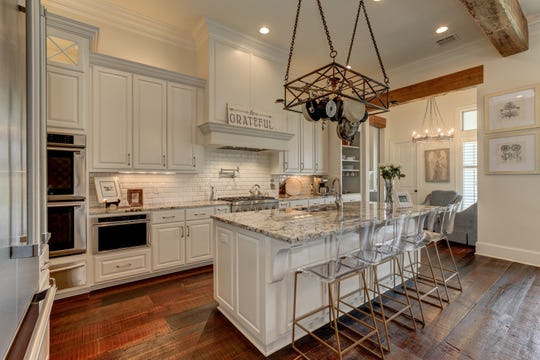 The sparkling kitchen is perfect for any chef.
