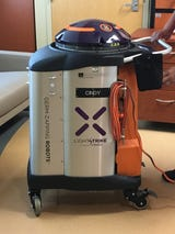 The Xenex LightStrike Germ-Zapping Robots disinfect and destroy hard-to-kill germs, bacteria and superbugs in hard-to-clean places.