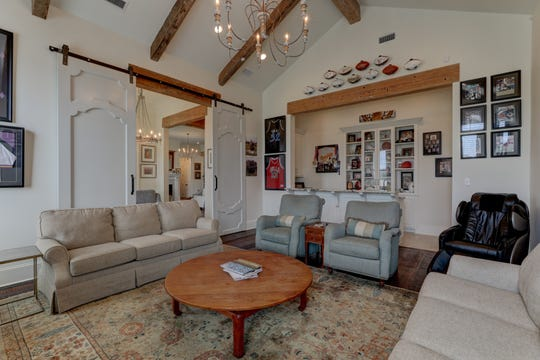 The casual family space is large and inviting.