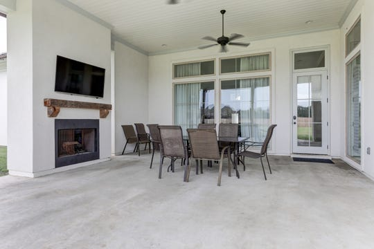 The outdoor living area is light and spacious.