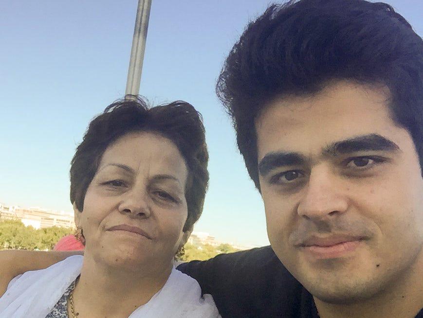 Marzieh Taheri, 61, and her son Mehran Jafari, 29.