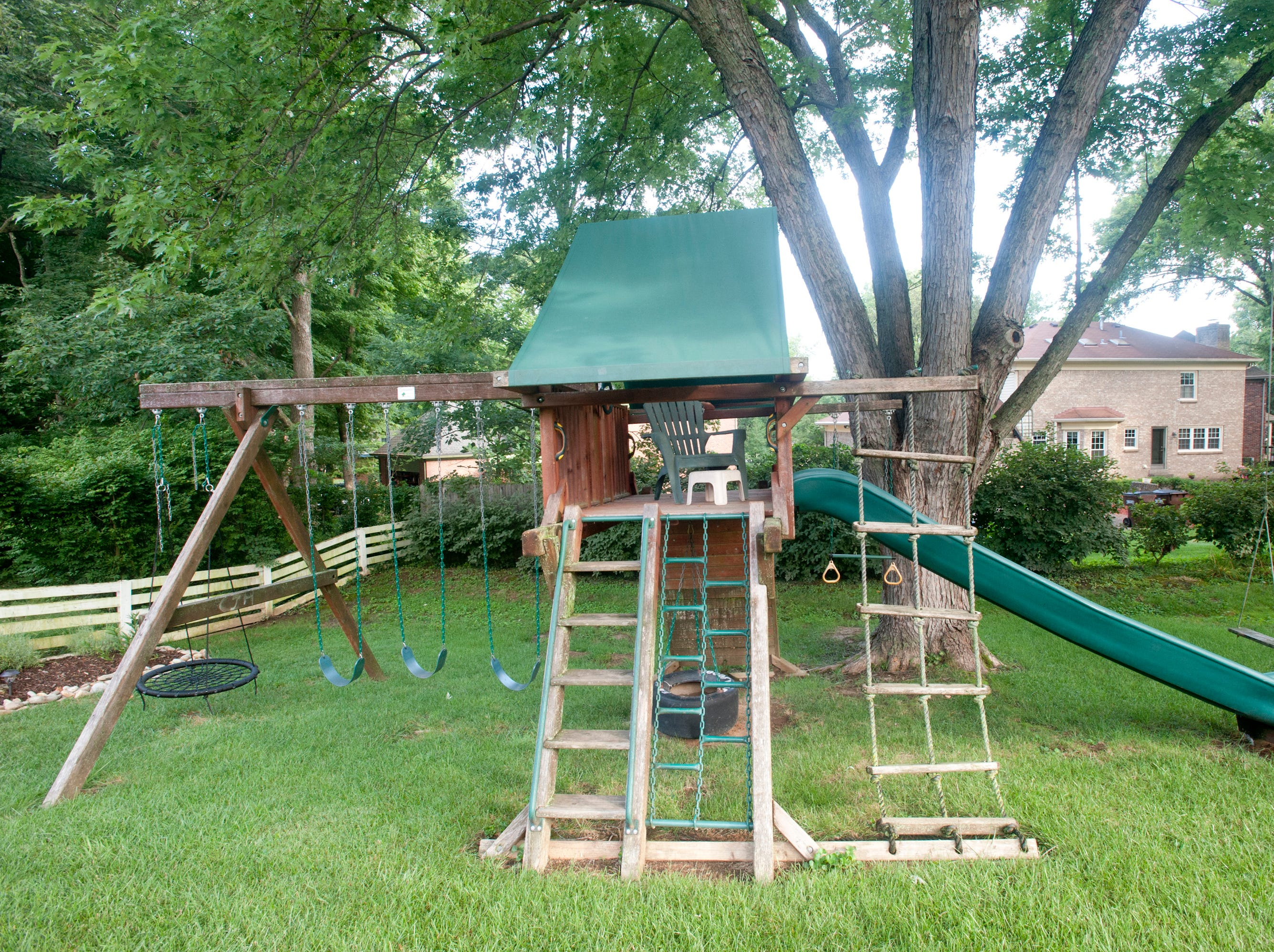 A playground set at the home of Jean Hodges.