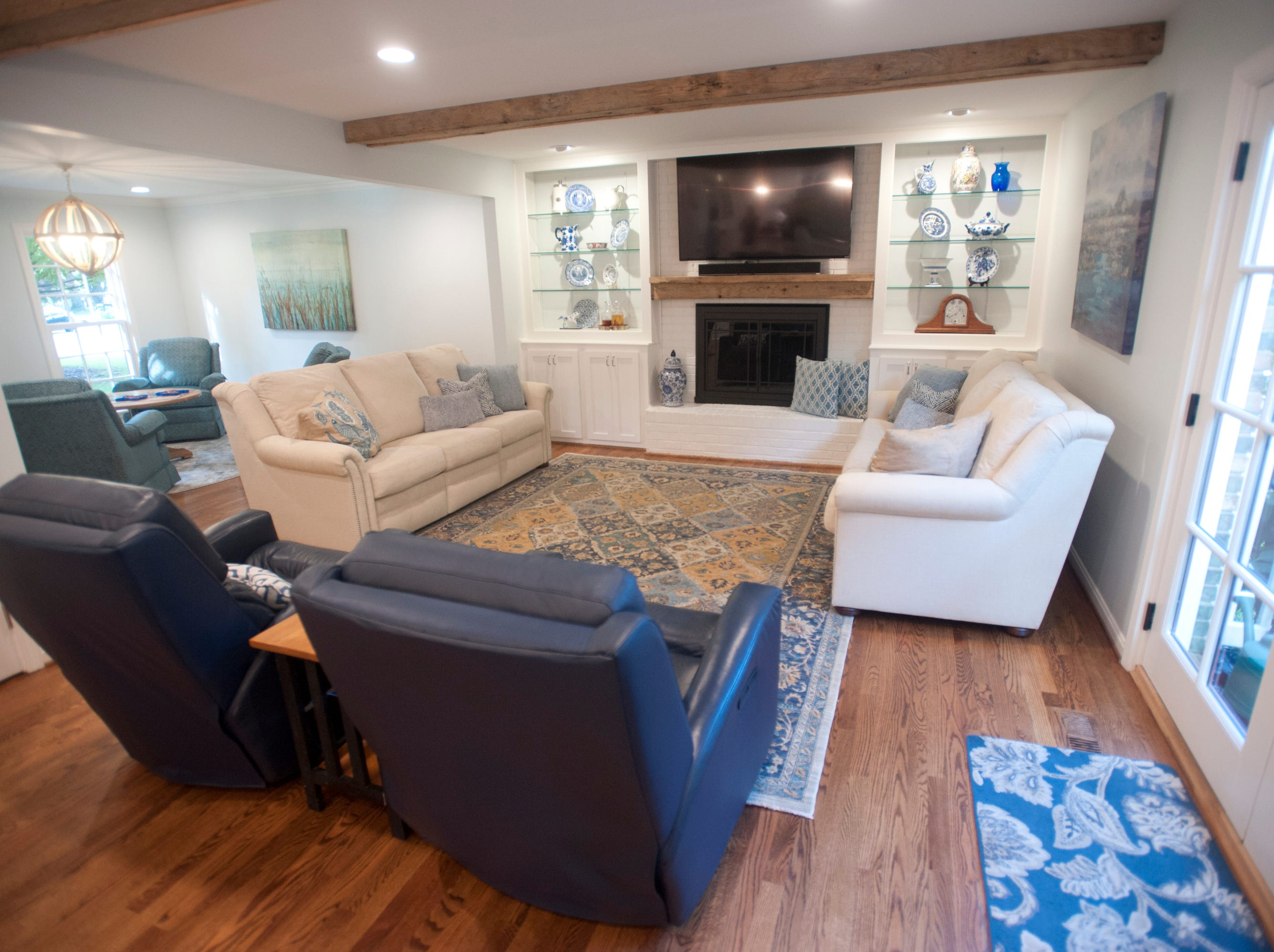 The family room in the home of Jean Hodges which has recently been renovated by Bailey Remodeling