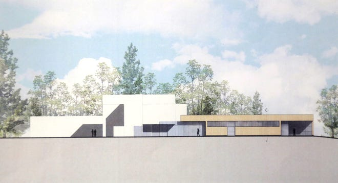 An architect's vision for the new addition to the Mansfield Art Center.