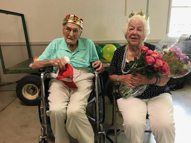 Liberty Nursing Center residents John Hadamuscin, 101, and Betty Jones, 85, were selected as king and queen of the ageless beauty contest at theRichland County Fair Aug. 6.