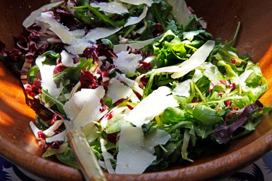 Baby arugula, radicchio and Parmesan team up in this salad.
