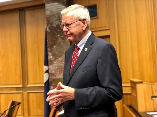 House Health and Welfare Committee Chairman Frank Hoffmann, R-West Monroe, sat in on Tuesday's Senate Health Committee meeting.
