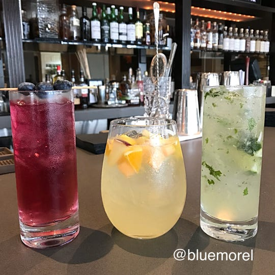 The Blue Morel's summer cocktails include the Blue Morel Blueberry Gin and Tonic, White Mango Sangria  and a  Coconut Mojito.