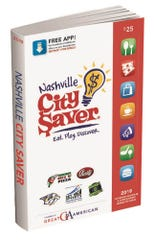 The 2019 Nashville City Saver book is being sold by schools and non profits.