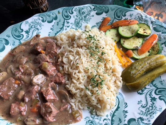 The beef goulash at the European Cafe & Bakery, Naples.